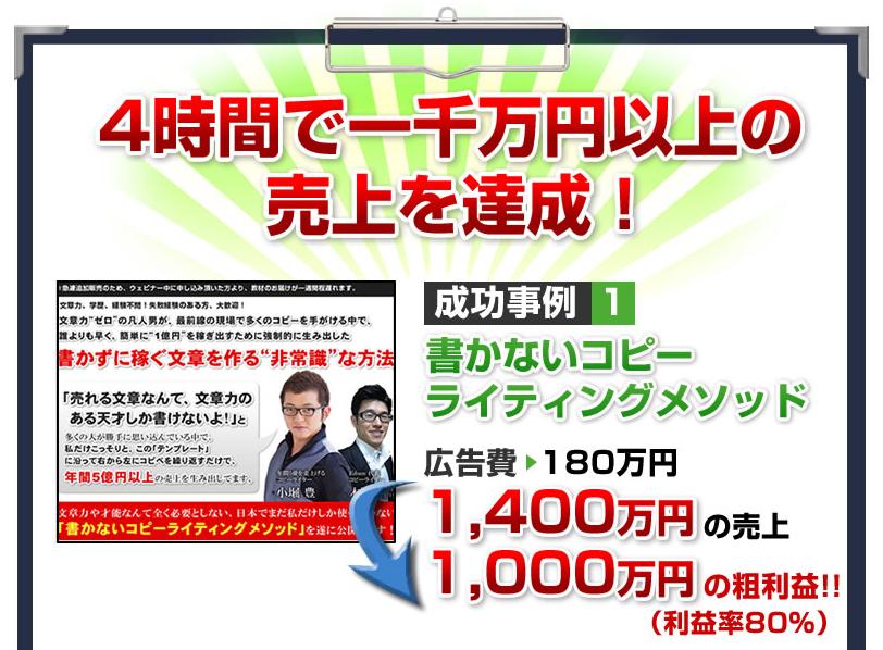 4時間で1 000万円売る「高成約Web セミナーの秘密」