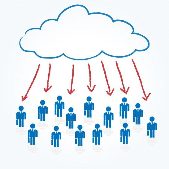 businessman cloud