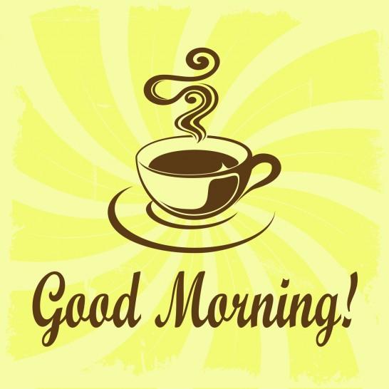 Good Morning illustration with coffee decoration